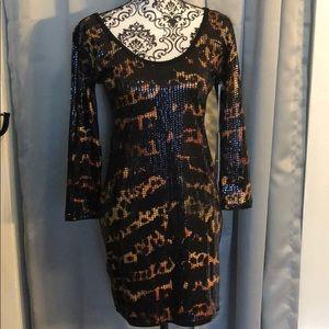 Iron Fist tiger & bunny sequin dress
